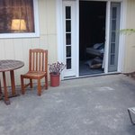 Our patio and room entrance