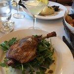 Duck confit + lemon drop martini