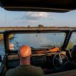 Sunset drive met de ranger. Onderweg zien we een cheetah.