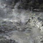 Mud pool steaming