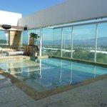 pool on the top floor