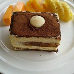 Yummy tiramisu at Aureum Palace Resort near the temples of Bagan