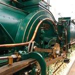 緑の蒸気機関車