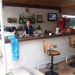 Baris at the hotel bar