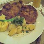 Schnitzel..tasty but does not loog amazing