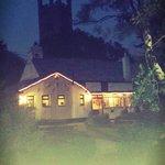 The crown inn at night