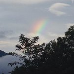 Rainbow view from cabin 3 pourch!
