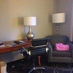 Desk area of suite