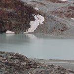 Lake in Trockener Steg on the way to Matterhorn Glacier