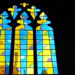 One of the many stained glass windows.