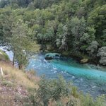 View of the Piva river from the camp