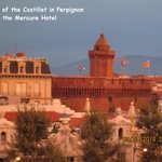 View of the Castillet from the Mercure, Perpignan