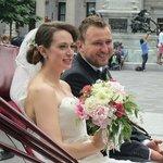 A wedding at the church