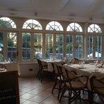 Main restaurant overlooking garden bar!