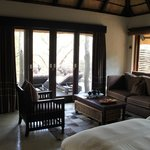 Interior of our suite with nyala on the terrace
