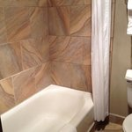 Beautiful tile in tub area. Immaculate!