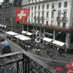 view from room to Bahnhofstrasse