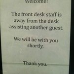 """Assisting Another Guest"".  OK...."