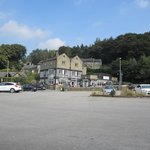 Hotel and car park