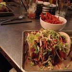 Fish Tacos and Sweet Potato Fries