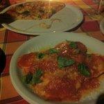 Real pizza and homemade ravioli