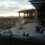 one of the outdoor balconies