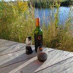 Wine and BBQ down by the pond