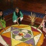 Flower rangoli or pookalam, Onam special