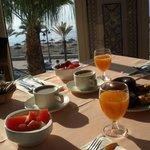 desayuno !!!menudas vistas!! para empezar la mañana