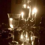 Cena romántica a la luz de las velas