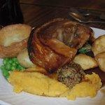 Roast pork meal