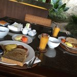 Our breakfast in our privet Villa Some thing will not forget at all 