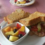 BLT with fresh fruit