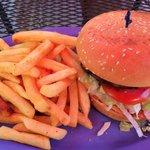 Blu burger and fries Yummy!
