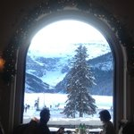 Lake Louise, vista desde el restaurante del Fairmont Hotel