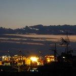 Genoa at night