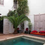 pool in one of the riad's courtyards