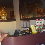 Cash register area at Good Fortune Restaurant.