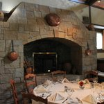 Fireplace in the main dining room