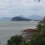A tropical paradise sea view from top of steps accessing the beach from our accom
