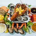 our famous chilled seafood platter