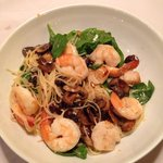 Scallop and shrimp pasta with mushrooms