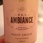 Great Pino Grigio house vino!