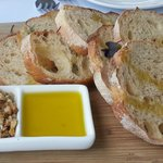 Rustic bread with olive oil and dukkah