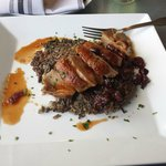 Duck with wild rice