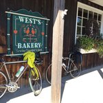 Our bikes outside