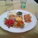 the vegetariano antipasto plate -  my favorite!