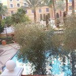 View of adult pool area from suite