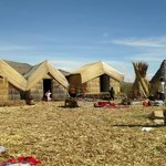 Houses made with totora