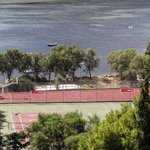 Tennis courts and beach